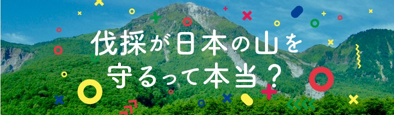 伐採が日本の山を守るって本当